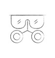 laboratory glasses isolated icon vector image vector image
