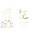 lily wedding invitation vector image vector image