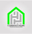 logo house letter h and p 01 vector image vector image