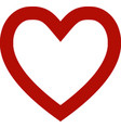 love icon simple heart symbol vector image vector image