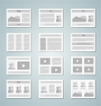 page layout template set vector image vector image