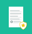 penalty document with shadow flat style vector image vector image