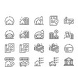 refinance line icon set vector image vector image