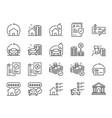 refinance line icon set vector image