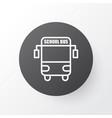 school bus icon symbol premium quality isolated vector image vector image