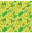 seamless pattern palm and tropical leaves vector image vector image