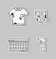 set laundry equipment to clean the clothes vector image vector image