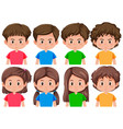 set of different male and female character vector image vector image