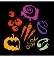 simple vegetable set vector image