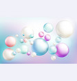 soap bubbles or colorful glossy flying spheres vector image
