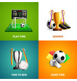 soccer icons concept vector image