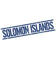 solomon islands blue square stamp vector image vector image