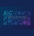 startup horizontal colored vector image