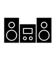 stereo solid icon stereo system vector image