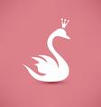 swan symbol beauty concept icon vector image vector image