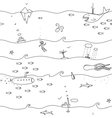 Underwater Seamless Lines Pattern vector image vector image