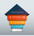 up arrow infographic options banner vector image vector image