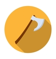 Viking battle-axe icon in flat style isolated on vector image vector image