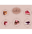 vintage cakes background vector image