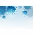 virus bacteria background cells disease vector image