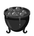 Witch cauldron icon gray monochrome style