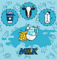 milk flat concept icons vector image