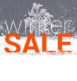 Winter sale tag Christmas New Year price or vector image
