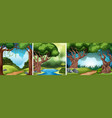 a set of nature landscape vector image vector image