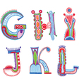 ABC font Sketchy alphabet design vector image