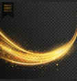abstract golden transparent light wavy streak vector image vector image