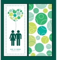 abstract green circles couple in love vector image vector image
