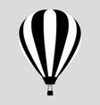 aerostat balloon flat vector image vector image