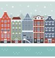 amsterdam winter city scene vector image vector image
