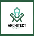 architect letter a logo - ruler vector image vector image
