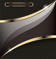 background with a gold stripe vector image