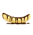 Banana in chocolate vector image vector image