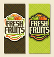 banners for set fresh fruits vector image vector image