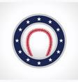 baseball emblem logo vector image
