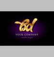 bd b d 3d gold golden alphabet letter metal logo