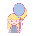 beauty girl with balloons and hairstyle design vector image vector image