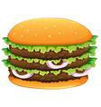 Big hamburger with sesame seeds vector image