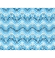 Blue dotted waves seamless pattern vector image