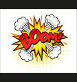 boom word comic pop art vector image vector image
