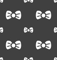 Bow tie icon sign Seamless pattern on a gray vector image vector image