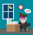 businessman burnout syndrome after hard working vector image