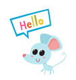 cartoon blue funny mouse vector image