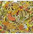 cartoon cute doodles hand drawn oktoberfest vector image vector image