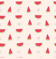 childish seamless pattern with watermelon slice vector image