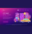city navigation apps smart city concept vector image vector image