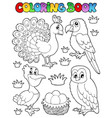 coloring book bird image 4 vector image